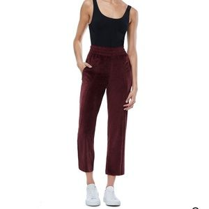 NWOT Good American High-waisted velour pant
